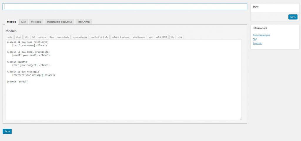 Plugin form contatti wordpress per lead generation
