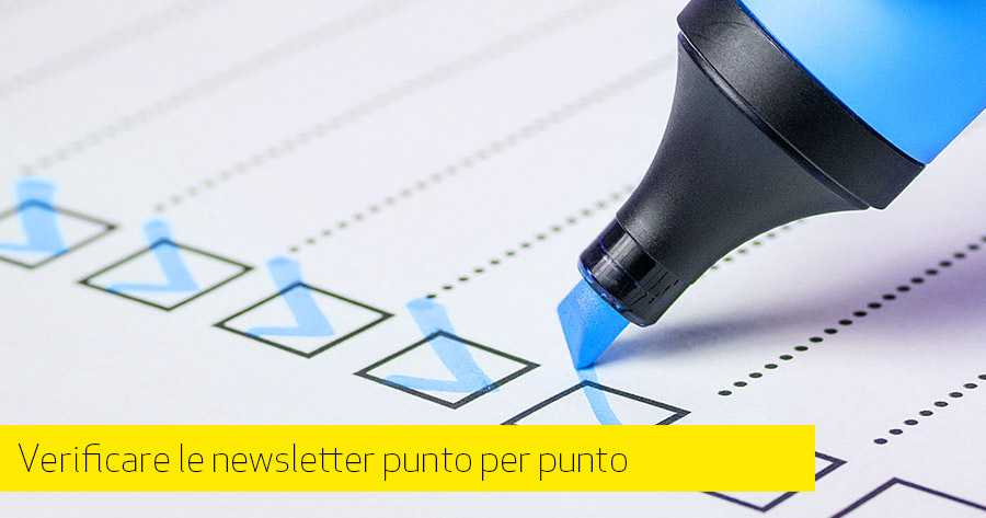 Email Marketing: la check-list delle newsletter