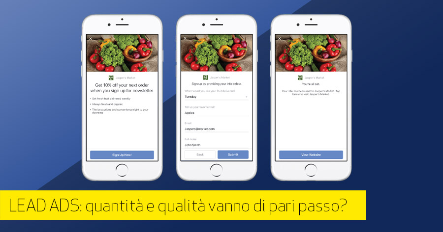 Lead Generation con Facebook ADS