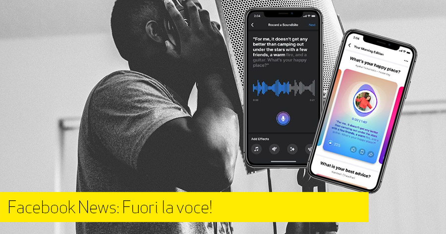 Fai sentire la tua voce con le Social Audio Experience