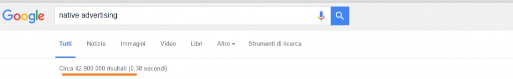 Native advertising ricerche google