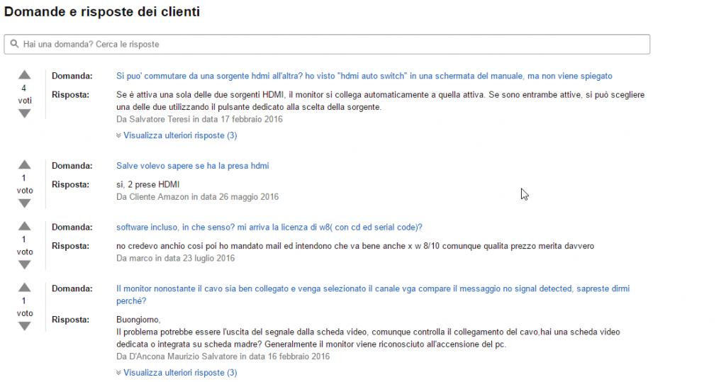 Commento Prodotto Amazon