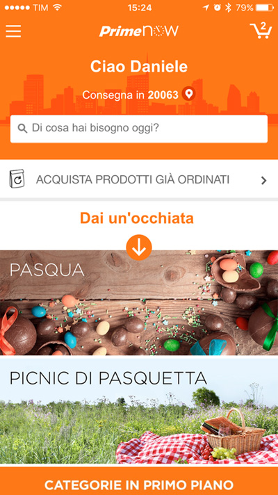 App - Amazon Prime Now