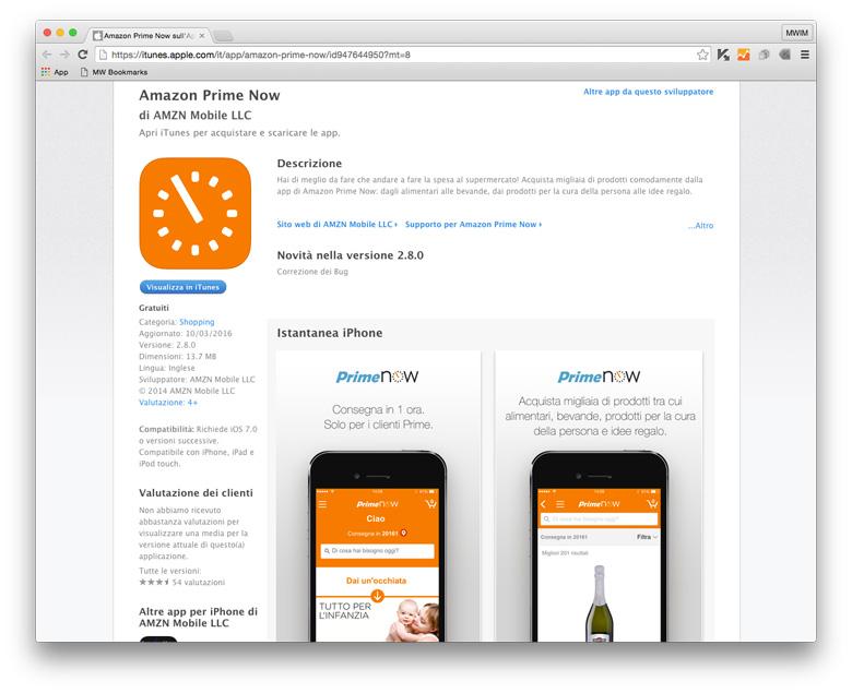 App Store - Amazon Prime Now