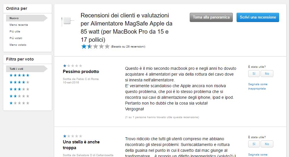 Recesnione di prodotto Apple