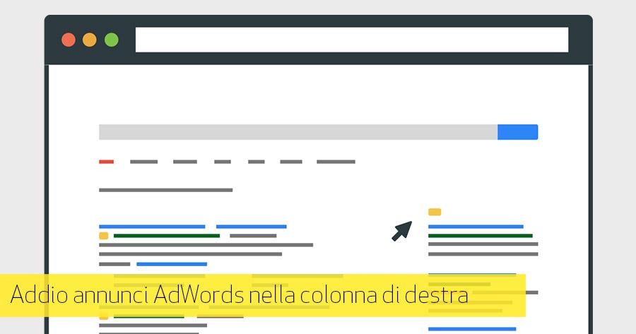 Google rimuove annunci AdWords di destra: implicazioni