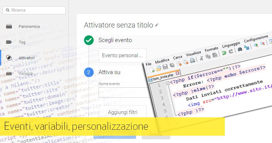 Google Tag Manager: gestione eventi e variabili
