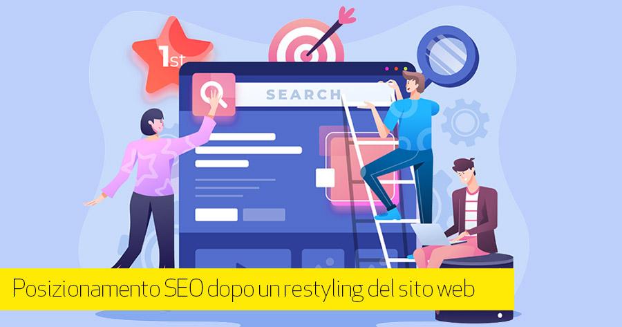 Come mantenere la posizione SEO dopo un restyling del sito web