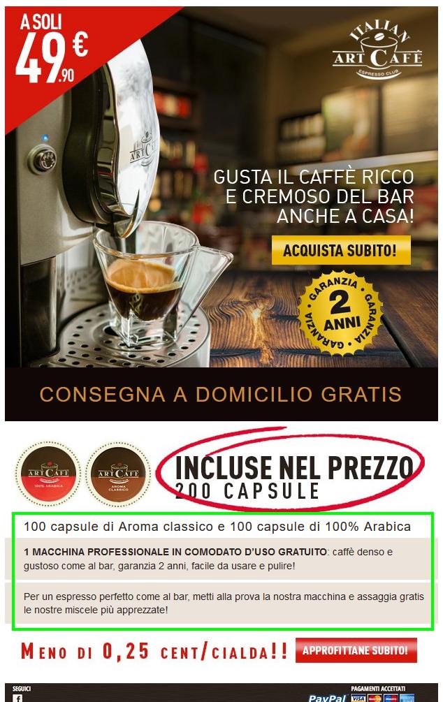 text to image ratio: esempio italianartcafe