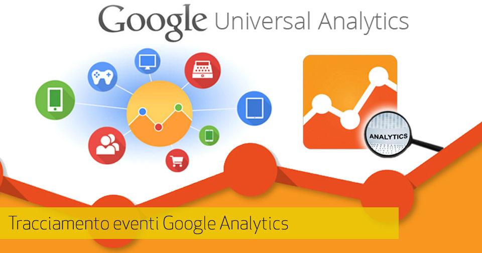 Tracciamento eventi Google Analytics