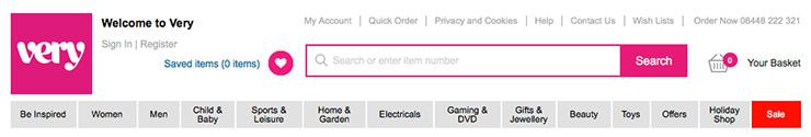 header e-commerce