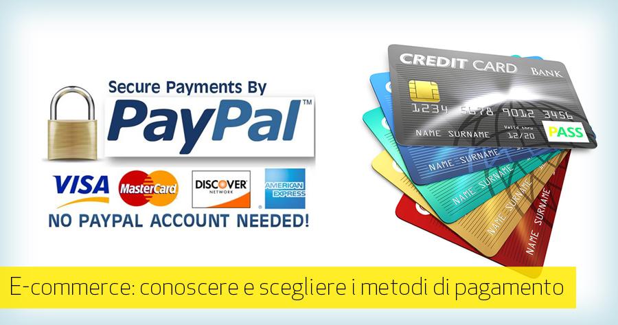 E-commerce: modalità di pagamento