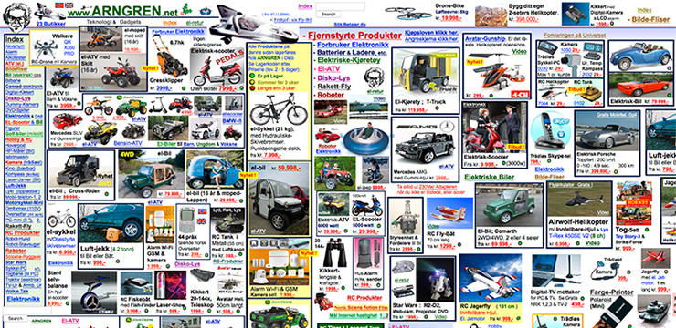 pessimo layout e-commerce