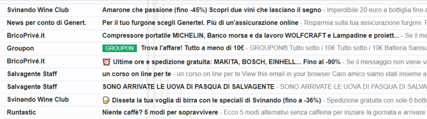 Inbox - una jungla di messaggi