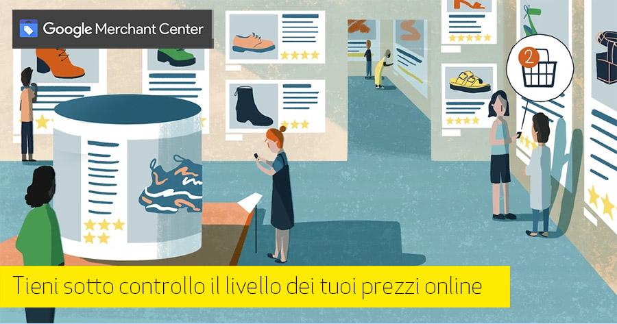 Monitorare la competitività e-Commerce: gratis con Google Merchant Center