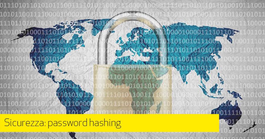 Sicurezza: password hashing