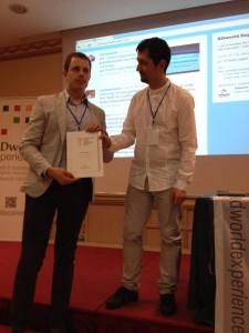 Marco Quadrella riceve il premio