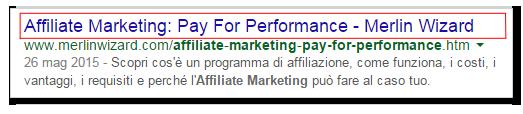 Il tag TITLE nei risultati di Google
